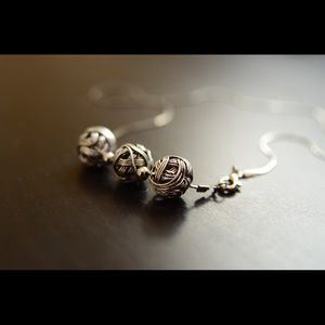 Silver Studs Necklace